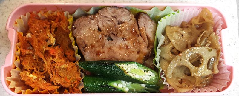 豚コマ切れ肉の焼豚もどき弁当